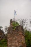 Clingerburg Tower Details at Klingenberg. Clingerburg Castle Tower Details at Klingenberg, Germany, Deutschland, April 2017, Spring Stock Photo