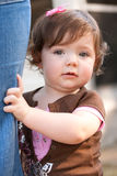 Clinging child Royalty Free Stock Photography