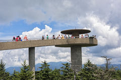 Clingman's Dome. CLINGMANS DOME GREAT SMOKY MOUNTAIN NATIONAL PARK JULY 14: Clingmans Dome On July 14, 2016 Is A Overlook In The Smoky Mountain National Park In Stock Photos