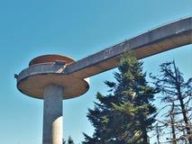 Clingmans圆顶观测塔 库存图片