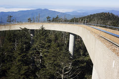 Clingmans Dome in Smoky National Park Royalty Free Stock Image