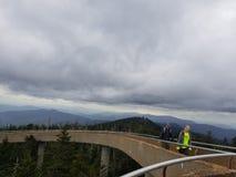 Clingmans kopuły Dymiących gór NC Appalachian ślad zdjęcia stock