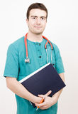 Clinic case history nurse Royalty Free Stock Image