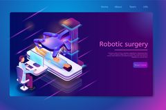 Clinic with Future Technologies Vector Web Banner royalty free illustration