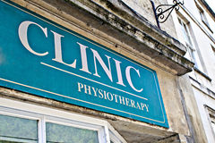 Clinic sign Stock Image
