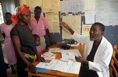 A clinic in Uganda stock photos
