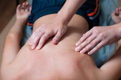 Clinica correttiva di massaggio fotografie stock libere da diritti