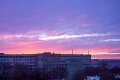 Clinica di emergenza di Chisinau nella sera Immagine Stock