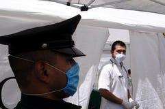 Clinica improvvisata a Messico City Fotografia Stock Libera da Diritti