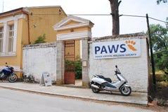 Clinica veterinaria delle ZAMPE, Paxos Immagine Stock Libera da Diritti