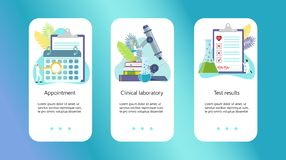 Clinical center, online pharmacy royalty free illustration