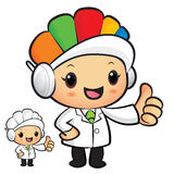 Clinical Dietitian Mascot the hand best gesture. Work and Job Ch Stock Photo