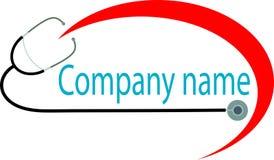 Clinical emblem. Isolated line art clinical logo design vector illustration