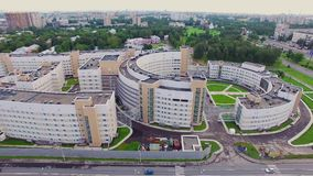 Clinical infectious diseases hospital Botkin in the city of Saint-Petrsburg. Aerial view. Clinical infectious diseases hospital Botkin in the city of Saint stock footage