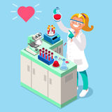 Clinical Laboratory People Isometric Icons Vector Royalty Free Stock Image