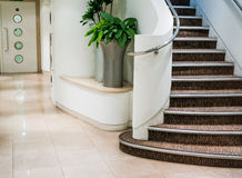 Clinical Lobby & Stairs. Clean and Bright Corridor with Staircase Royalty Free Stock Photos