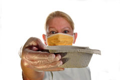 Clinical staff wearing a surgical mask Stock Images
