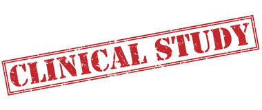 Clinical study red stamp Royalty Free Stock Image