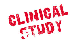 Clinical Study rubber stamp. Grunge design with dust scratches. Effects can be easily removed for a clean, crisp look. Color is easily changed royalty free illustration