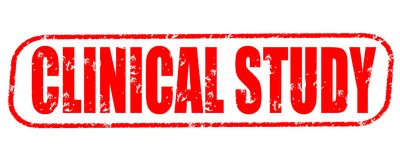 Clinical study stamp on white background Royalty Free Stock Image