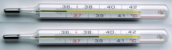 Clinical Thermometer Royalty Free Stock Images