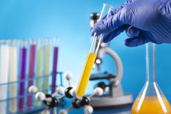 Clinical trials in the laboratory Stock Image