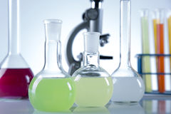 Clinical trials in the laboratory Stock Images