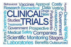 Clinical Trials Word Cloud Royalty Free Stock Images