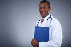 Clinician with clipboard Royalty Free Stock Photography