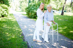 Clinician and her patient Royalty Free Stock Images