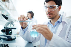 Clinician in lab Royalty Free Stock Photography