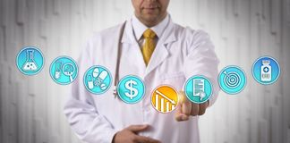 Clinician Lowering Price Of Approved Drug royalty free stock image