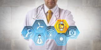 Free Clinician Monitoring Wellness Of Remote Engineer Stock Image - 109571281