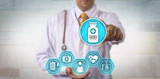 Free Clinician Offering Telemedicine Prescription Update Stock Photo - 110293340