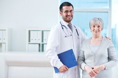 Clinician and patient Royalty Free Stock Photos