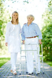 Clinician and senior patient Stock Images