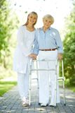 Clinician and senior patient Royalty Free Stock Photo