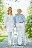 Clinician and senior patient Royalty Free Stock Photography