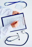Clinician at work Royalty Free Stock Photos