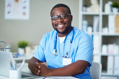 Clinician at workplace Royalty Free Stock Photos