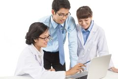 Clinicians at work Royalty Free Stock Photo