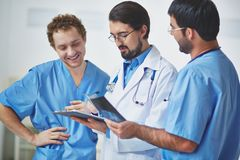 Clinicians at work Royalty Free Stock Photos