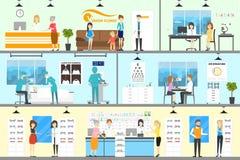 Clinique de correction d'oeil illustration de vecteur