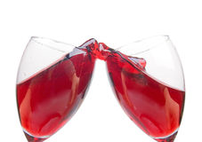Clink glasses Royalty Free Stock Image