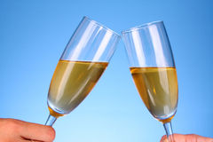 Clink glasses of champagne Royalty Free Stock Image