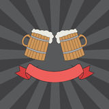 Clink mugs logo Stock Images