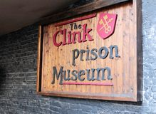 The Clink Prison Museum in London. The Clink was a notorious prison in Southwark, England which functioned from the 12th century until 1780 either deriving its stock photos