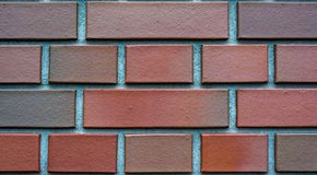 Clinker bricks background, wallpaper, texture Stock Images