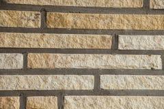 Clinker steenmuur van een huis Stock Afbeelding