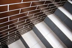 Clinker tiles and stairs Stock Image